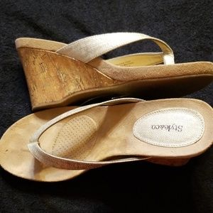 Style & Co Shoes - Style & Co thong wedge sandals